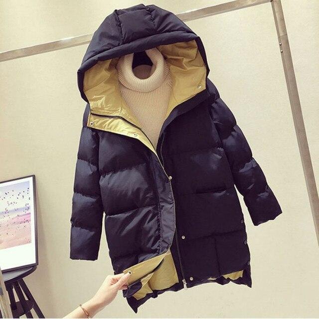 2020 Hiver femmes veste longue à capuche coton rembourré Femme Manteau haute qualité vêtements d'extérieur chauds femmes Parka Manteau Femme Hiver P787 3