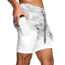 Asrv novo dos homens double deck correndo esporte shorts ginásio de fitness treino bermuda musculação secagem rápida calças curtas roupas masculinas 5xl
