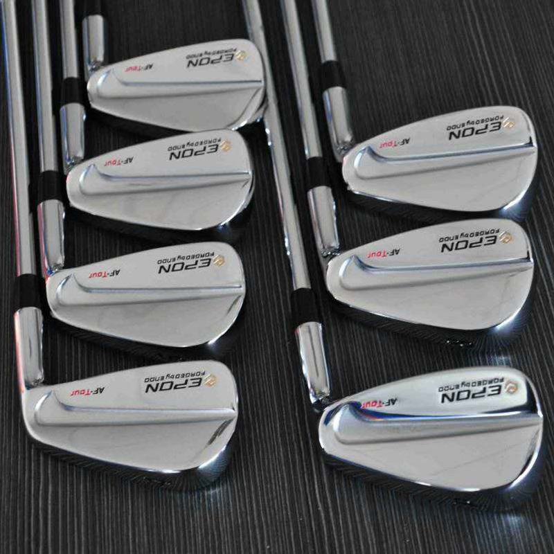 E-PON TOUR MB Golf Clubs Irons Sliver Golf Forged Iron 4-P A Set Of 7 Pieces R / S With Head Cover Free Shipping