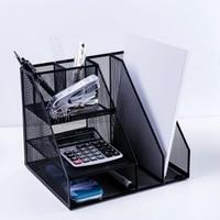 Home Office Desktop Office storage File Rack Organizer Sorter Black Metal Mesh