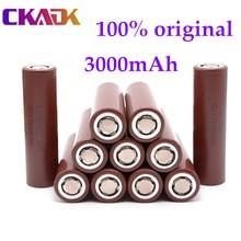100% original lg hg2 18650 3000mah bateria 3.6v descarga de alta potência 18650 bateria de carregamento 30a bateria de alta potência