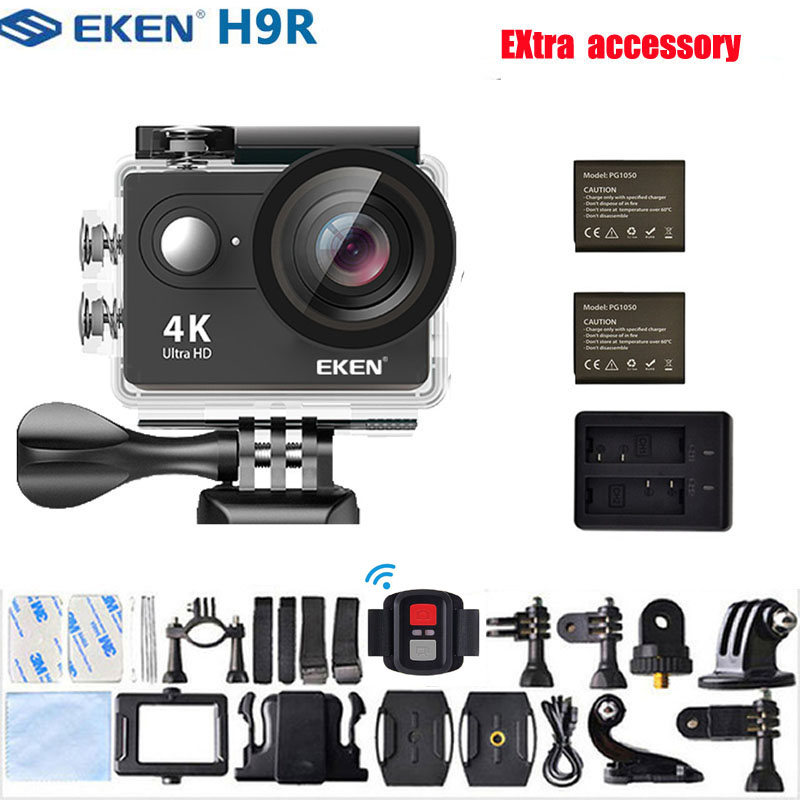 Original EKEN H9 H9R Action Kamera 4 K/30FPS 1080 p/60fps 20MP Ultra HD Mini Helm Cam wiFi Wasserdichte Sport Kamera