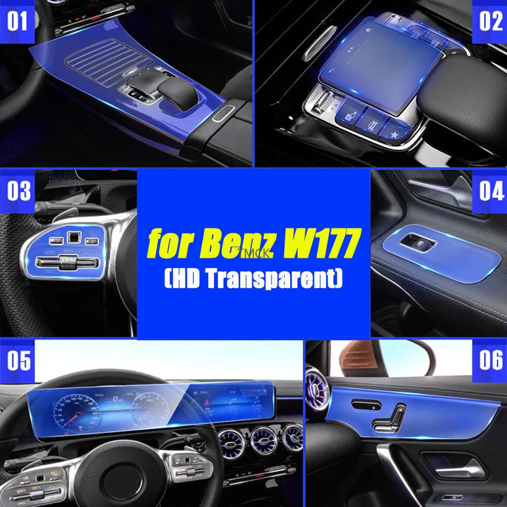 pour Mercedes Benz Classe A A180 A200 A250 W177 V177 Classe B W247 2019 2020 Fibre de Carbone Voiture ABS Chrome poign/ée de Porte Garniture LHD