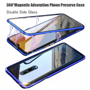 Glass-Case Phone-Preserve-Case 6t-Cover Oneplus 7t Magnetic Adsorption Double-Side 360-Degree