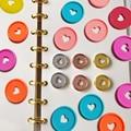 6 шт. записные книжки  диски для переплета с грибным отверстием  диск для переплета  блокнот с кольцевой пряжкой  пластмассовый диск  перепле...