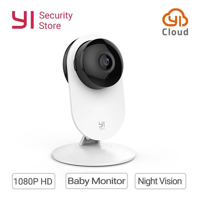 YI 1080P Home Camera IP Cam Wireless Wifi Security Surveillance System Baby Monitor Night Vision Global Version YI Cloud EU