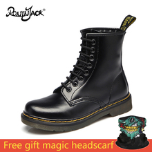 Hot Sale Autumn Winter High Quality Genuine Leather Men Boots Martin Top Motorcycle Shoes Couple Snow Bota