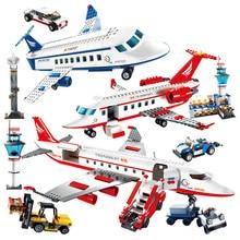 GUDI 8911/8912/8913 City Airport Series Airplane Airbus Car Terminal Building Blocks MOC Bricks Aviation Teaching Toys