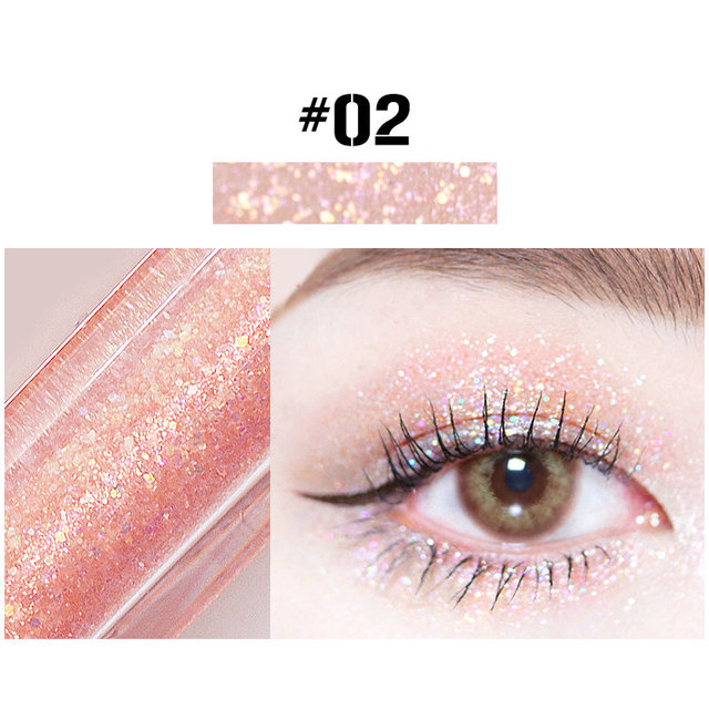 10 Colors Liquid Eye Shadow Diamond Glitter Eyeshadow Brush Pen Waterproof Long Lasting Shimmer Eye Shadow Stick Makeup Cosmetic 3