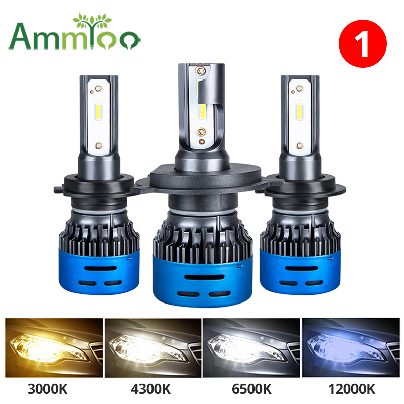 H7 Led H4 Led H7 Car Light H11 H1 Led Headlight HB3 HB4 9005 9006 H8 H9 Led Bulbs 12V 12000K 6500K Lamp 4300K 3000K Light Bulb