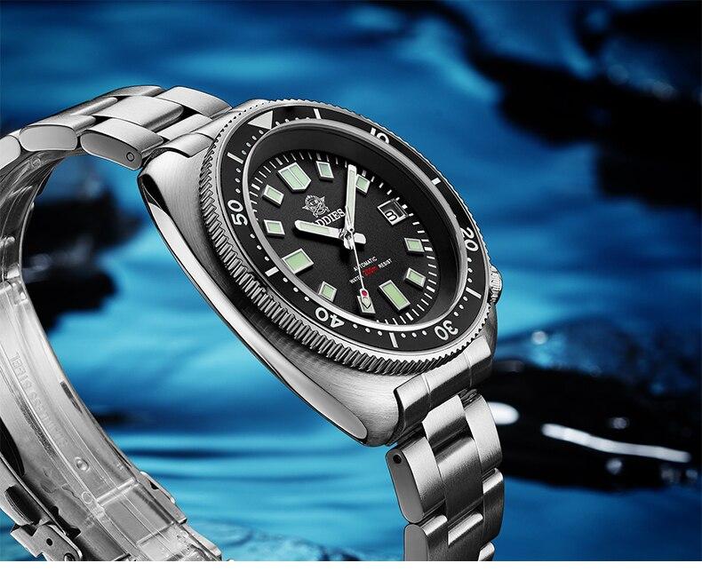 H83a883d40385437295ee8fbb9cc7680e3 1970 Abalone 200m Diver Watch Sapphire crystal calendar NH35 Automatic Mechanical Steel diving Men's watch