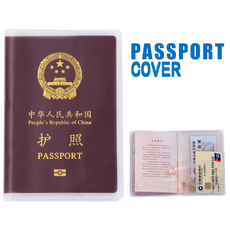 PVC Transparent Passport Cover Holder Travel Accessories Women Card ID Case Business Pass Port Holder Wallet Credit Card Bag