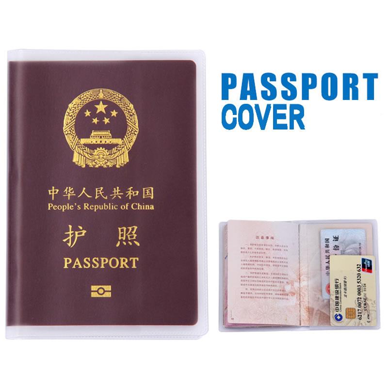 PVC Transparent Passport Cover Holder Travel Accessories Women Card ID Case Business Pass Port Holder Wallet Credit Card Bag