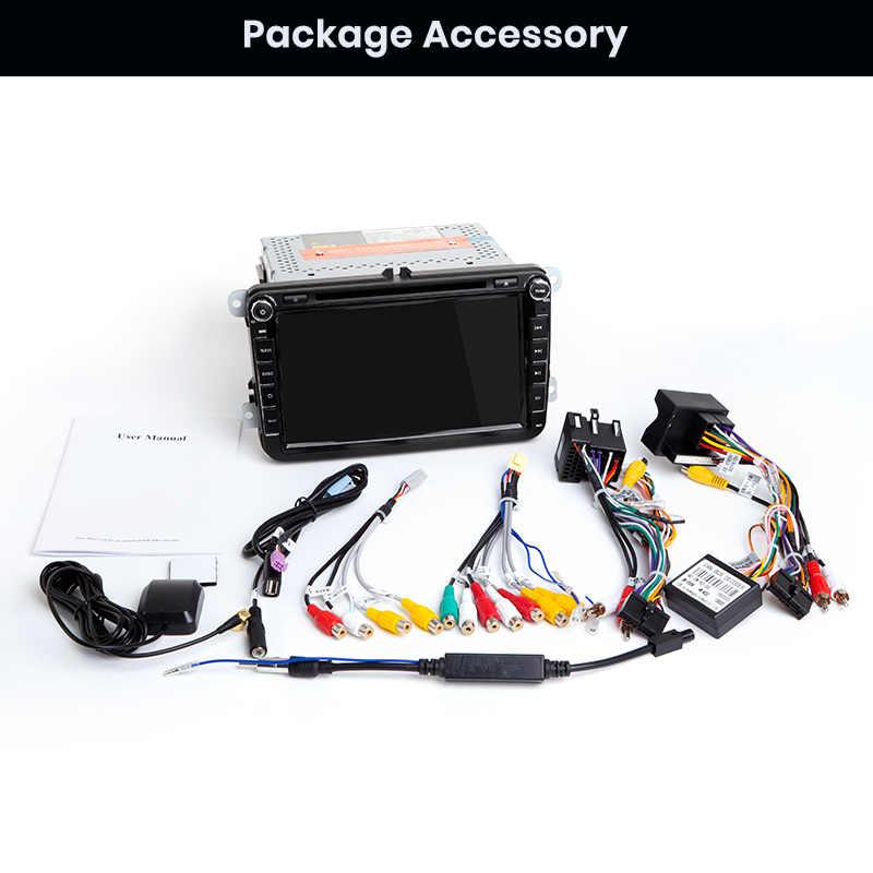 Junsun 2 ГБ + 32 ГБ Android 8,1 автомобильный DVD Радио Мультимедийный видео плеер GPS навигатор для Volkswagen Golf Polo Skoda Seat Tiguan Passa