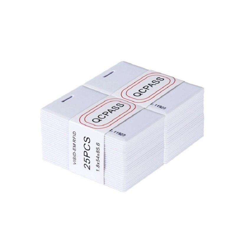 100 шт. EM4100 Tk4100 125 кГц 1,85 мм брелок RFID тег стикер брелок жетон кольцо Бесконтактный чип тонкая карта контроля доступа