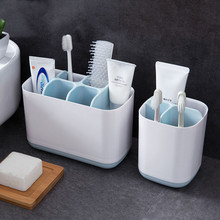 Bathroom Toothbrush Toothpaste Storage Holder Electric Draining Rack Shelf Kitchen Sponge Cleaning Brush