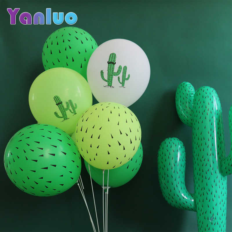 10pcs 12inch Cactus Latex Ballon Hawaiian Party Decoratie Ballonnen Jungle Verjaardag Thema Partij Decoratie
