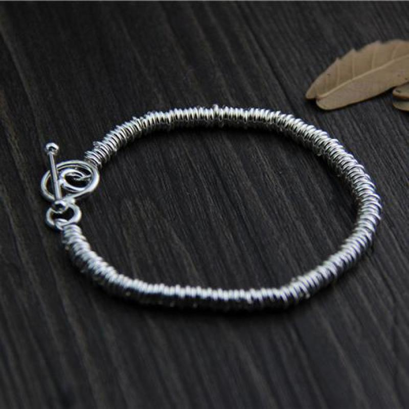 Image 5 - Real Pure 925 Sterling Silver Handmade Bracelet For Women Vintage