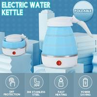 Electric Kettle Safety Silicone Foldable Portable Travel Camping Water Boiler Heater 220V 700W Mini Home Electric Appliance 0.6L|Electric Kettles|   -