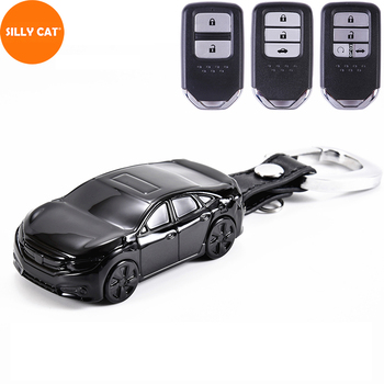 цена на Car Model Car Keychain Car key Case Holder Cover Suit For HONDA Accord Civic Fit Jazz CRV HRV Vezel City Odyssey Key Case Cover