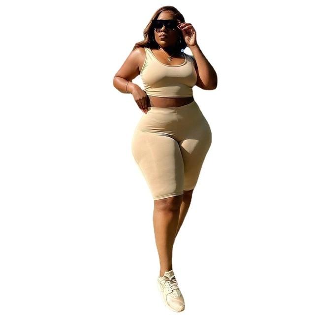 Plus Size set women summer clothing  1