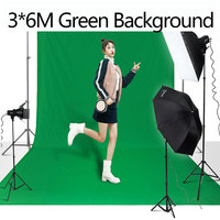3X6M Green screen Professional Photo Photography Backdrop Polyester Cotton Chromakey Green Background Cloth For Photo Studio