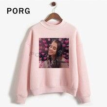 Ariana Grande Pink Heart Graphic Streetwear Sweatshirt Haraj
