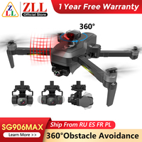 Drone con cámara con 3 ejes cardán profesional 4K HD GPS WiFi FPV RC Quadcopter remoto Dron ZLL SG906 MAX Pro 2 Pro2