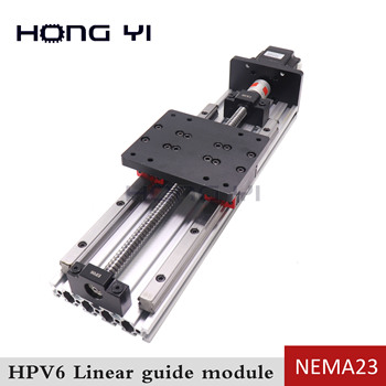 цена на Screw with linear guide hgr15 HPV6 linear module NEMA23 2.8A 56mm stepper motor same