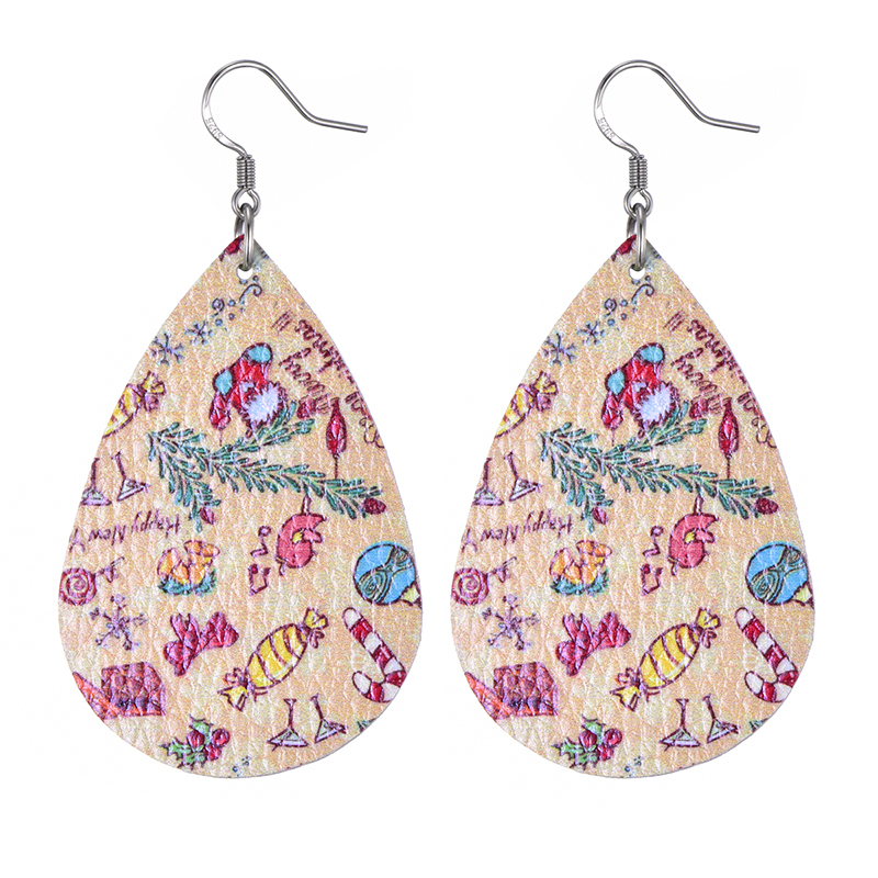 New Teardrop Leather Earrings Petal Drop Earrings Antique Lightweight S925 Carved Stainless Steel Earrings For Women Gifts 30
