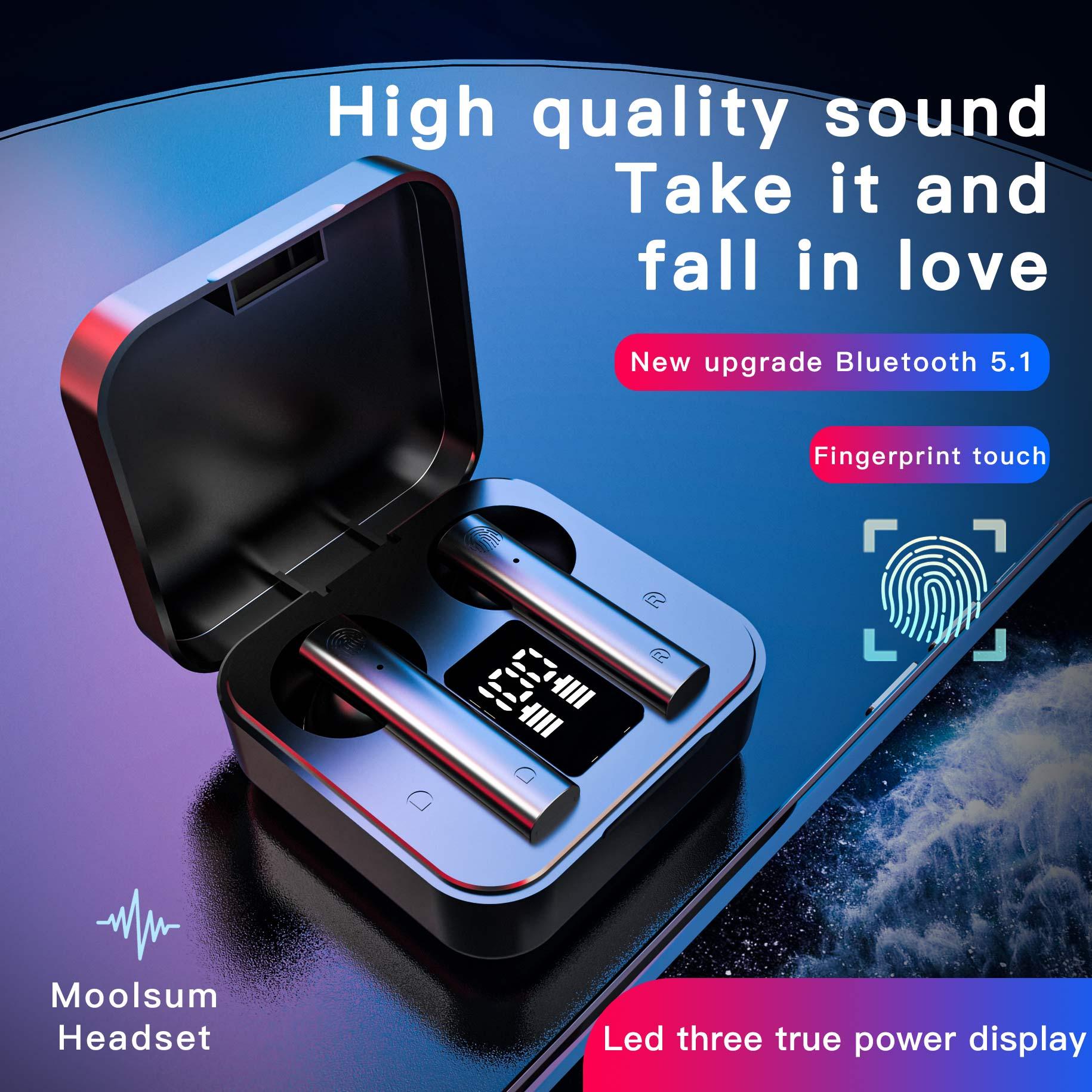 Air2s TWS Беспроводная Bluetooth-гарнитура со светодиодным дисплеем, высокоточные игровые стереонаушники с шумоподавлением, наушники для Xiaomi