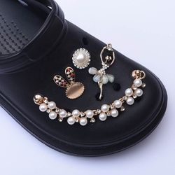 1pcs New Designer Chain Shoe Charms Croc JIBZ Accessories Decoration for Croc Clog Shoes Pendant Buckle for Girl Gift