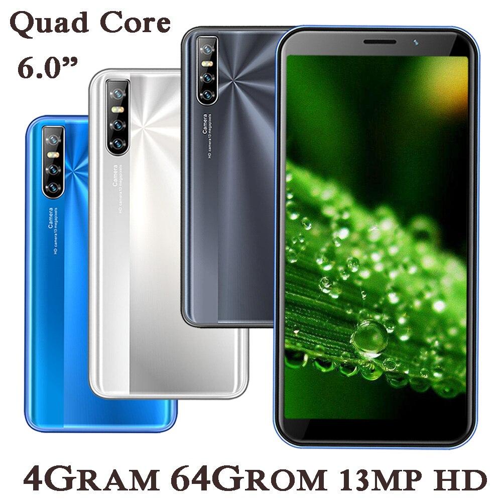 8A Pro 6,0 дюймовых смартфонов 2SIM мобильные телефоны уход за кожей лица разблокированный 4 ядра IPS Android 4G Оперативная память 64G Встроенная память ...