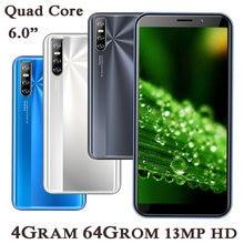 8a pro 6.0 Polegada smartphones 2sim telefones celulares rosto desbloqueado quad core ips android 4g ram 64g rom original celulares celular-telefone
