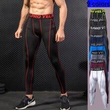 Мужские компрессионные облегающие леггинсы для бега спорта фитнеса