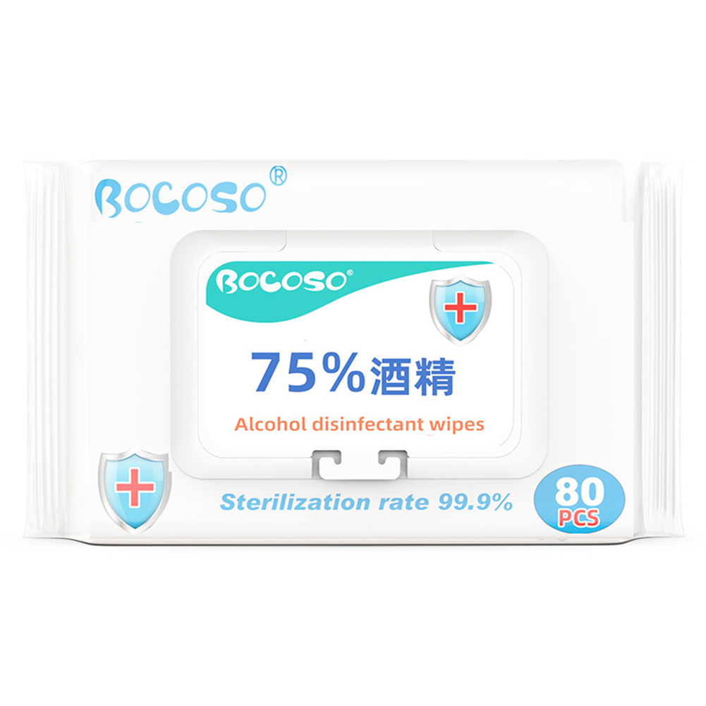 3 Packages 75% Alcohol Disinfection Wipes Free Hand Wash Household Disposable Sterilization Antibacterial Wipes