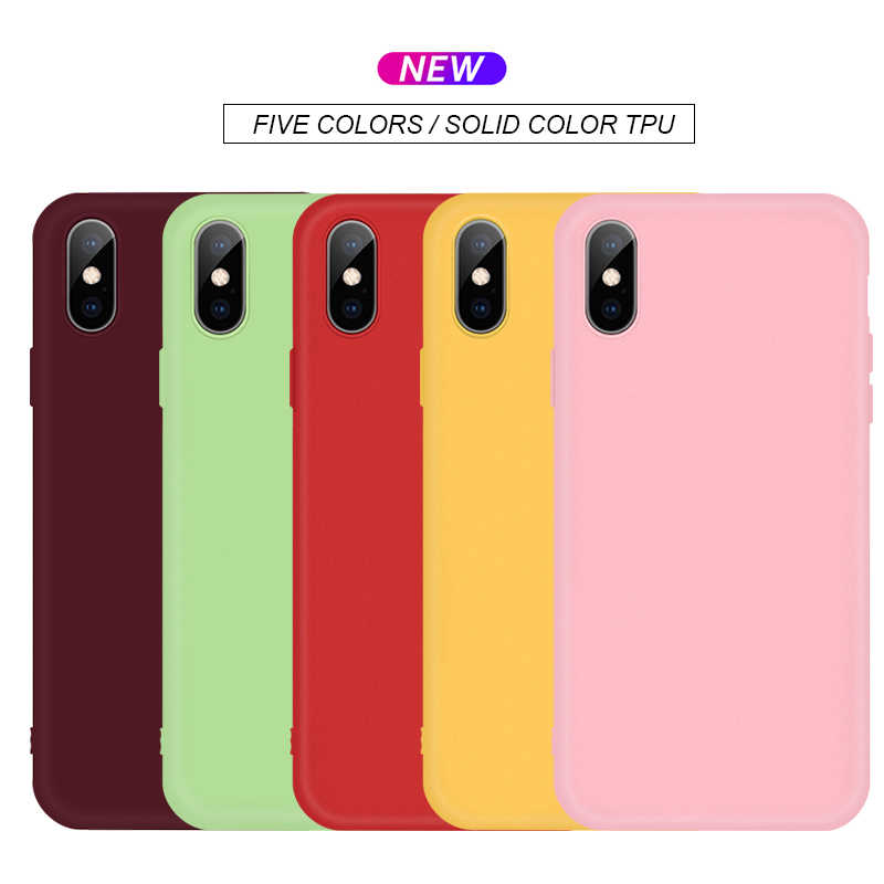 Fashion Candy Kleur Siliconen Case Voor Iphone Xs Max Xs Xr X 7 8 Plus 11Pro 6 6S 5 5S Paar Telefoon Cover Voor Iphone 11 11Pro Max