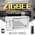 G светодиодный OPTO ZIGBEE контроллер zll звено  светлый RGB + CCT светодиодный контроллер полосы dc12-24v управление приложением Совместимость с zigbee 3 0