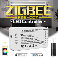 GLEDOPTO ZIGBEE controller zll  link light RGB+CCT led strip controller dc12 24v app control work  Compatible with  zigbee 3.0
