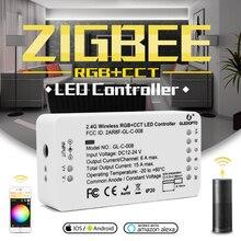 Gledopto zigbee コントローラ zll リンクライト rgb + cct led ストリップコントローラ dc12 24v アプリ制御作業と互換性ジグビー 3.0