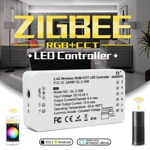 Image 1 - Gledopto zigbee コントローラ zll リンクライト rgb + cct led ストリップコントローラ dc12 24v アプリ制御作業と互換性ジグビー 3.0