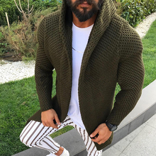 New Arrivals Men's Fashion Casual Knitted Cardigans Solid Co