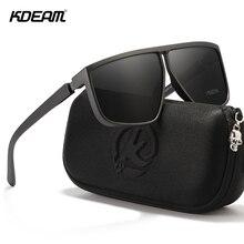 KDEAM Oversized Geometric Men's Polarized Sunglasses TR90 Fl