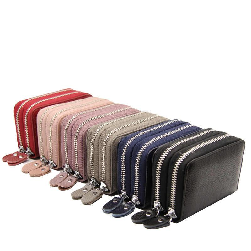 Skórzany wizytownik na karty biznesowe portfel na Bank etui na karty kredytowe etui na identyfikator kobiety posiadacze kart porte carte pasjes portemonnee