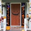 Хэллоуин Баннер Декорации для Хэллоуина подвесной Флаг Хэллоуин вечерние поставки с изображением куплета дома баннер с числом Вечерние