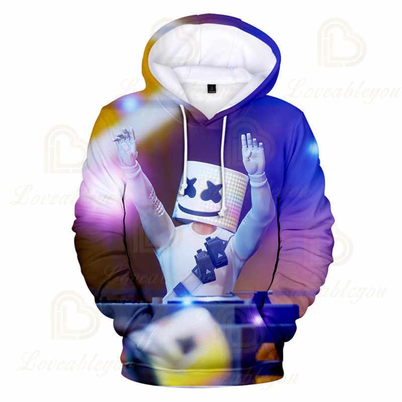 Müzik DJ 3 ila 14 yıl çocuklar Hoodies oyun 3D baskılı Hoodie Sweatshirt erkek kız Harajuku karikatür ceket Tops genç giysi