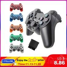 Tay Cầm Chơi Game Không Dây Cho Sony PS2 Bộ Điều Khiển Cho Máy Playstation 2 Tay Cầm Joystick Đôi Rung Shock Joypad Không Dây Controle