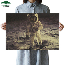 DLKKLB ВИНТАЖНЫЙ ПЛАКАТ драгоценные фотографии Аполлон 11 Луна Посадка крафт-бумага украшение фильм плакаты 51,5*36 см стикер на стену