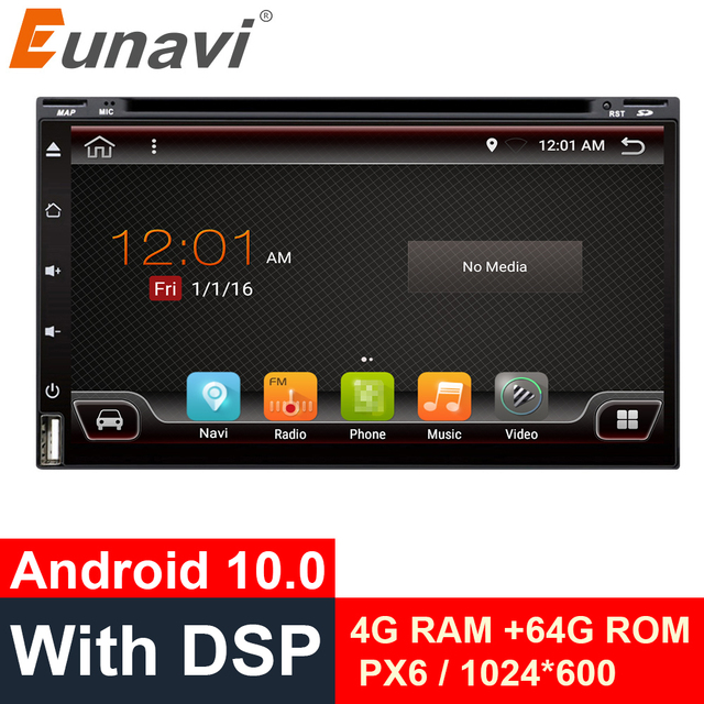 Eunavi 2 الدين أندرويد 10 مشغل أسطوانات للسيارة راديو العالمي 2din 6.95 لتحديد المواقع الملاحة الصوت ستيريو autoradio الكمبيوتر سماعة الرأس مشغل وسائط متعددة