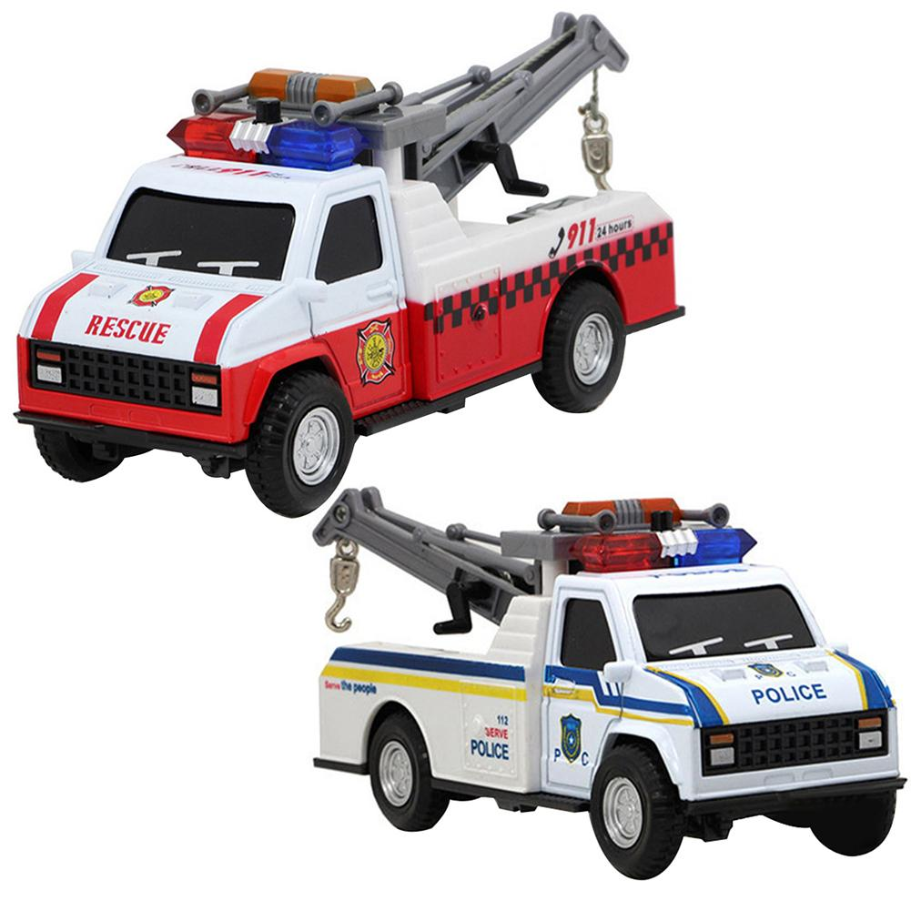 1:28 Ambulance Police Cars Model Alloy Diecast Metal Pull Back Sound Light Children Toy Cars Fire Truck Vehicles Model Kids Gift image